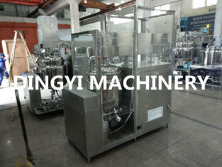 Fat Emulsion Industrial Vacuum Mixer , Cosmetic Mixer Equipment HMI Control
