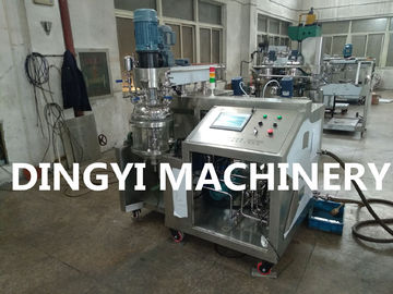 Lab Vacuum Emulsifying Mixer Machine Water Bath Heating With CIP Cleaning Head